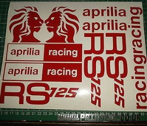 APRILIA RS125  Decal/ Sticker Pack  (type2)